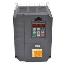 Преобразователь частоты vfd 7.5kw 220 В 10HP привод переменной частоты Инвертор регулятор скорости вращения двигателя