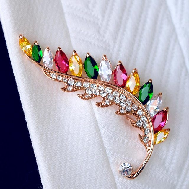 Brooch corsage female crystal pin quality suit accessories cute sweater pins