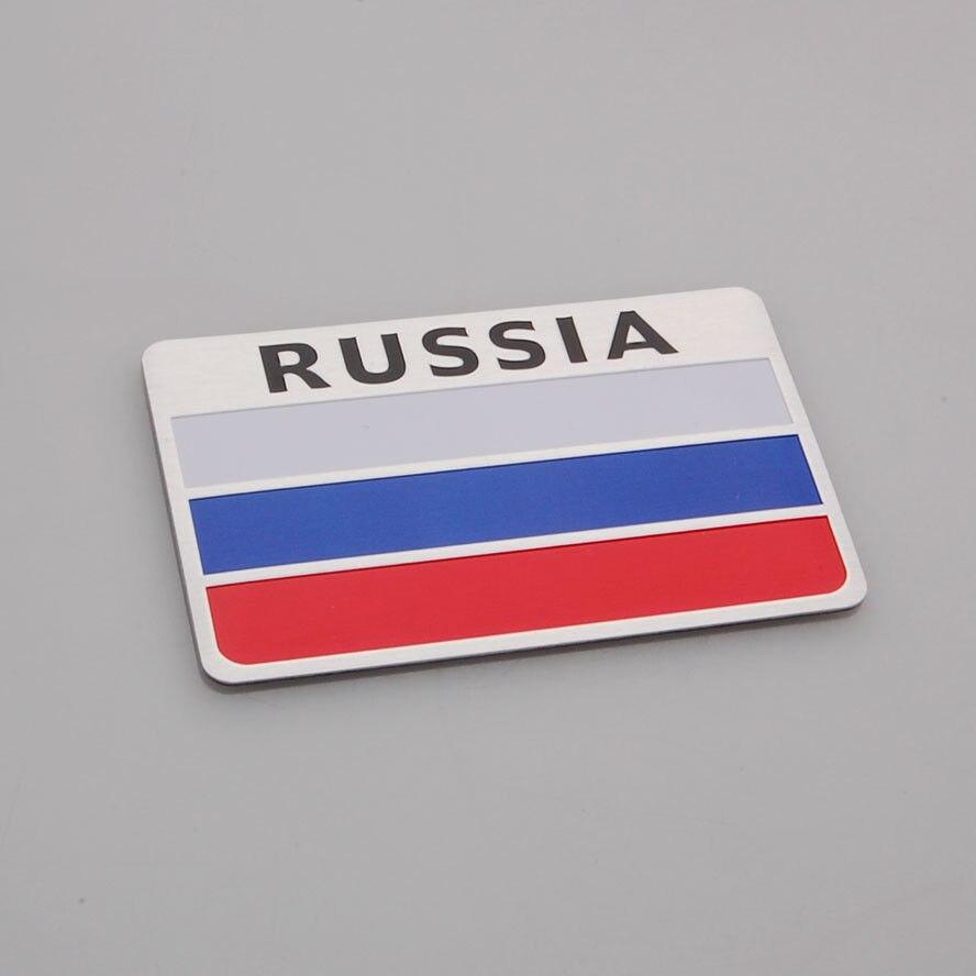 BBQ@FUKA Aluminium Auto Car Russia Russian Federation Flag Car Decal Badge Emblems Sticker 8x5cm Car styling Accessary