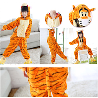 17 Style 4 12Y Girls Boys Winter Children Flannel Animal Pajamas Kid Clothes Cute Pyjamas Hooded