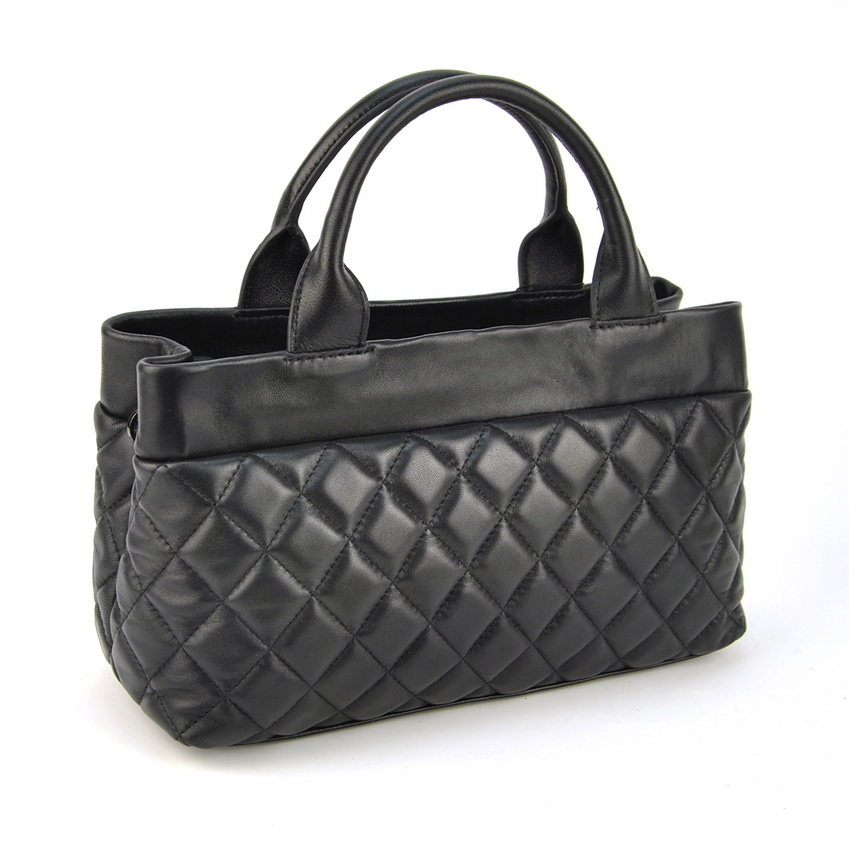 Women Genuine Sheep Leather Quilted Handbag Mother Mature -8273