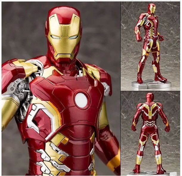 цены  The Avengers Age of Ultron Iron Man MK43 Mark XLIII Armor LED 30cm PVC Action Figure Collection Toy Doll