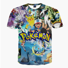 Mr.1991INC&Miss.GO Spring Summer Cotton  Men T-shirt Cartoon Pokemon Go Man Tees Men's 3d Print T Shirt Casual Tees Tops