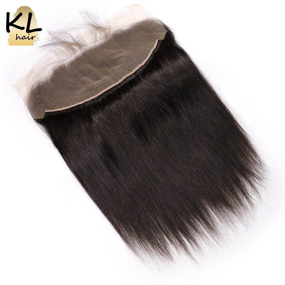 KL Hair 13x4 Ear To Ear Lace Frontal Closure Straight Human Hair With Baby Hair Brazilian