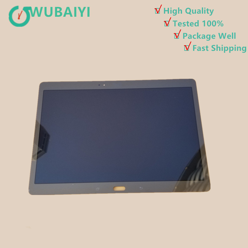 High Quality for Samsung Galaxy Tab S T800 T805 SM-T800 SM-T805 LCD Display with Touch Screen Digitizer Sensor Full Assembly fast free shipping stainless steel manual frozen meat slicer handle vegetable slicing mutton rolls cutter slicer cutting machine