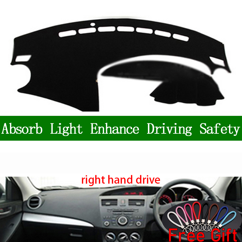 For <font><b>mazda</b></font> <font><b>3</b></font> 2011 <font><b>2012</b></font> 2013 Right Hand Drive Dashboard Cover Car Stickers Sun Shade Dash Mat Carpet Interior <font><b>Accessories</b></font> image