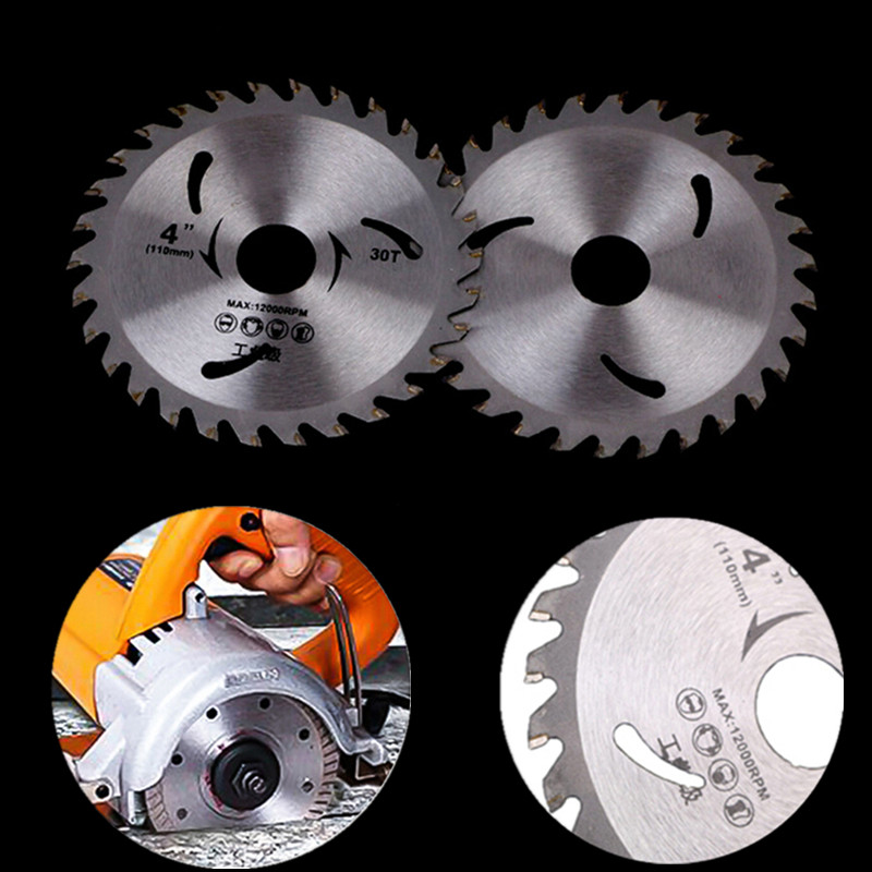 New Alloy Steel Circular Saw Blade 30 Teeth Wheel Discs For Cutting Wood Aluminum Iron Plate Power Tools 4''/110mm