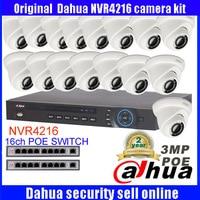 Dahua 16CHระบบกล้องIP Onvif/P2P 16 Channel NVR4216บันทึกวิดีโอ16ชิ้นโดมHD 3MPกล้องIP DH-IPC-HDW1320S Night Vision
