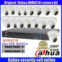 Dahua 16CH IP Camera System Onvif/P2P 16 Channel NVR4216 Video Recorder 16Pcs Dome HD 3MP IP Camera DH-IPC-HDW1320S Night Vision