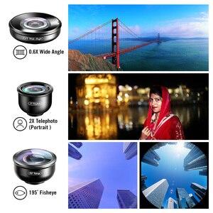 Image 3 - Apexel 5in1 kit lente do telefone móvel pro fotografia hd olho de peixe super grande angular macro lente telescópio para samsung iphone xs xiaomi