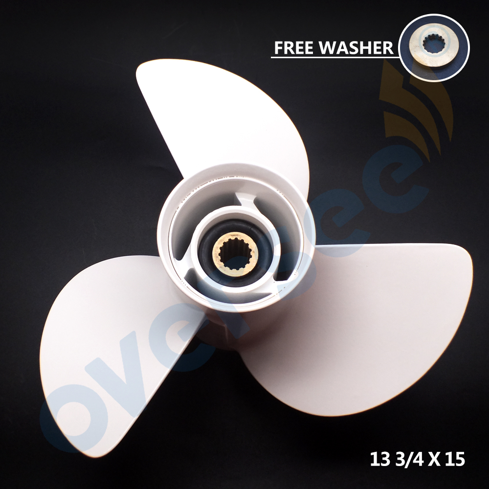 58130-ZW1-015AH Aluminum Propeller For Honda Outboard Engine BF75-BF130 13 3/4 X 15 Solas 3 Blade
