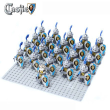 21pcs/lot Lion Knight B Minifigure compatible ninja Building Block doll,Castle Knight Brick Sluban Decool mini figures