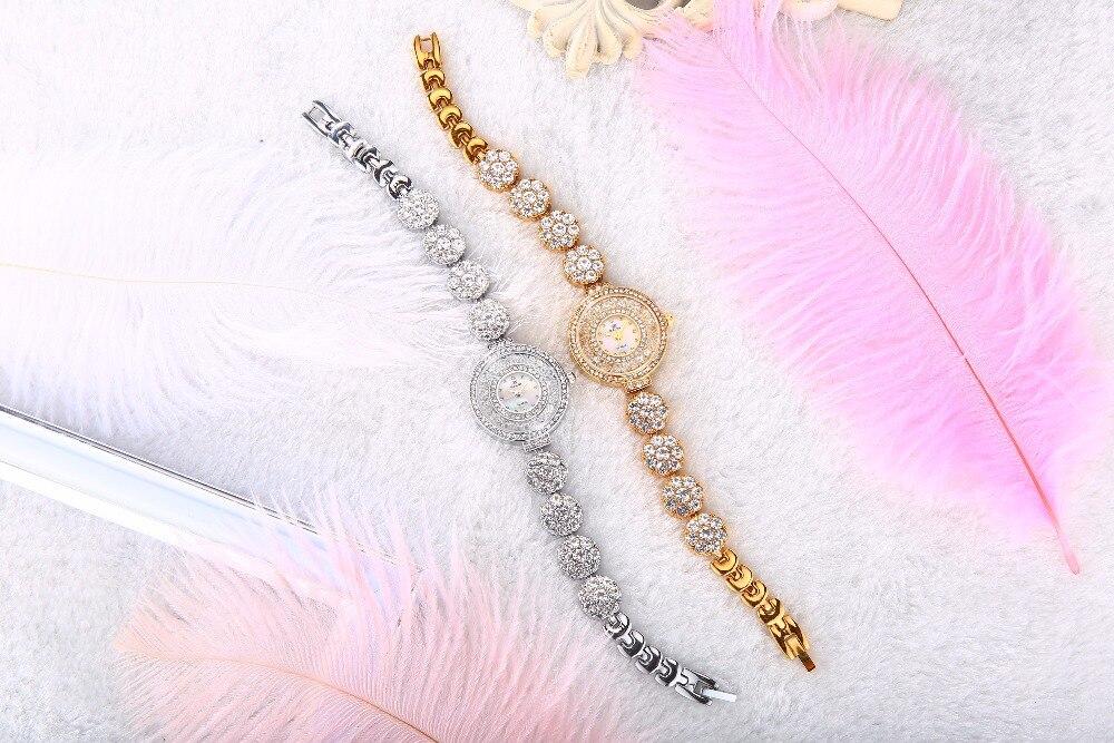 Zegarek marki BELBI Zegarek kwarcowy Ladies Gold Silver Fashion - Zegarki damskie - Zdjęcie 4
