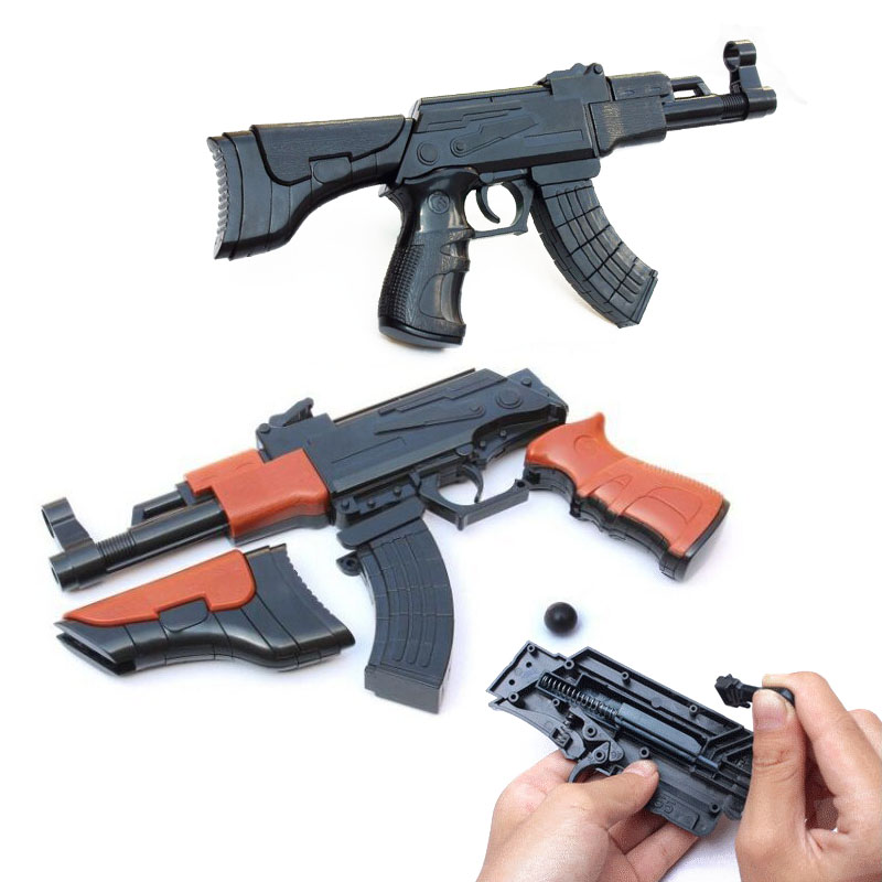 AK47 Building Blocks Gun Toy Assembled Model Building Can Shooting Shots Educational Toys Outdoor Toys 27.5cm цена