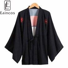 Anime Naruto Uchiha Sasuke Black Kimono Cosplay Halloween Party Costume Cloak Robe Haori Chiffon Coat
