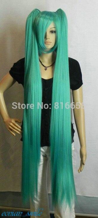 Miku Onion Green 120cm Extra Long Straight Cosplay Split Type Wig