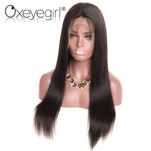 Oxeye girl Brazilian Straight Lace Front Human Hair Wigs For Women Pre Plucked Wigs Non
