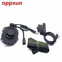 oppxun Z Tactical HD01 Headset Bowman Elite II U94 Style PTT for Kenwood TK3107 TK3207 UV5R uv82 radios