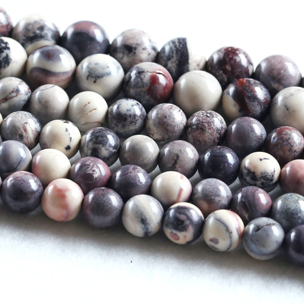 Discount Wholesale Natural Genuine Purple Matrix Stone Round Loose Beads 4-16mm Fit Jewelry 15 03668