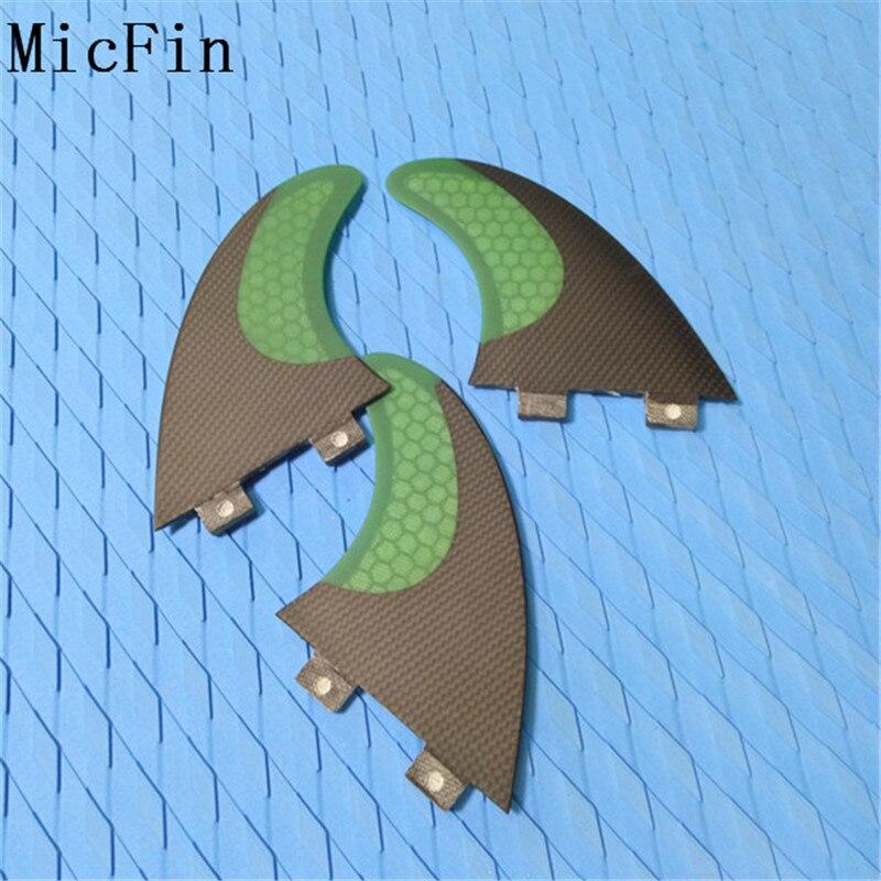 Aletas de tablas de surf de fibra de carbono Micfin Juego de aletas - Deportes acuáticos - foto 4