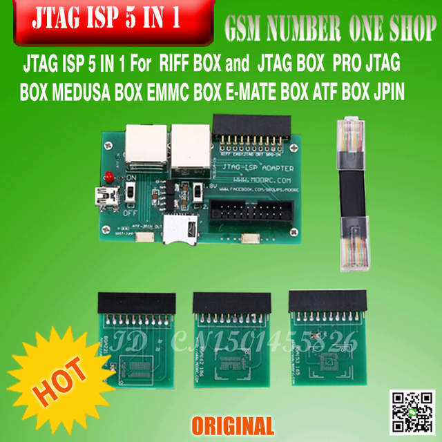 FREE  SHIPPING  JTAG ISP 5 IN 1 For  RIFF  Box  JTAG / PRObox  MEDUSA  EMMC  E-MATE BOX ATF BOX