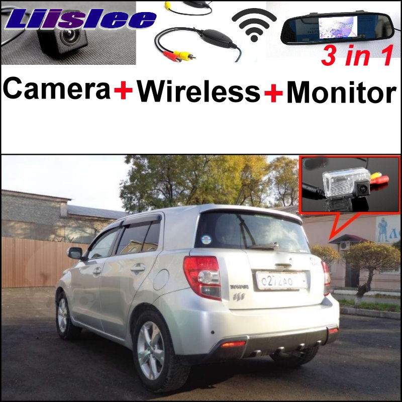 Liislee For TOYOTA ist Urban Cruiser 3 in1 Special Rear View Camera + Wireless Receiver + Mirror Monitor Easy DIY Parking System 3 in1 special wifi rear view camera wireless receiver mirror monitor easy diy parking system for chevrolet malibu 2012 2014