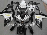 Hot Sales,Yzf1000 R1 07 08 body kit For Yamaha Yzf R1 2007 2008 Motorcycle Black and White Fairings (Injection molding)