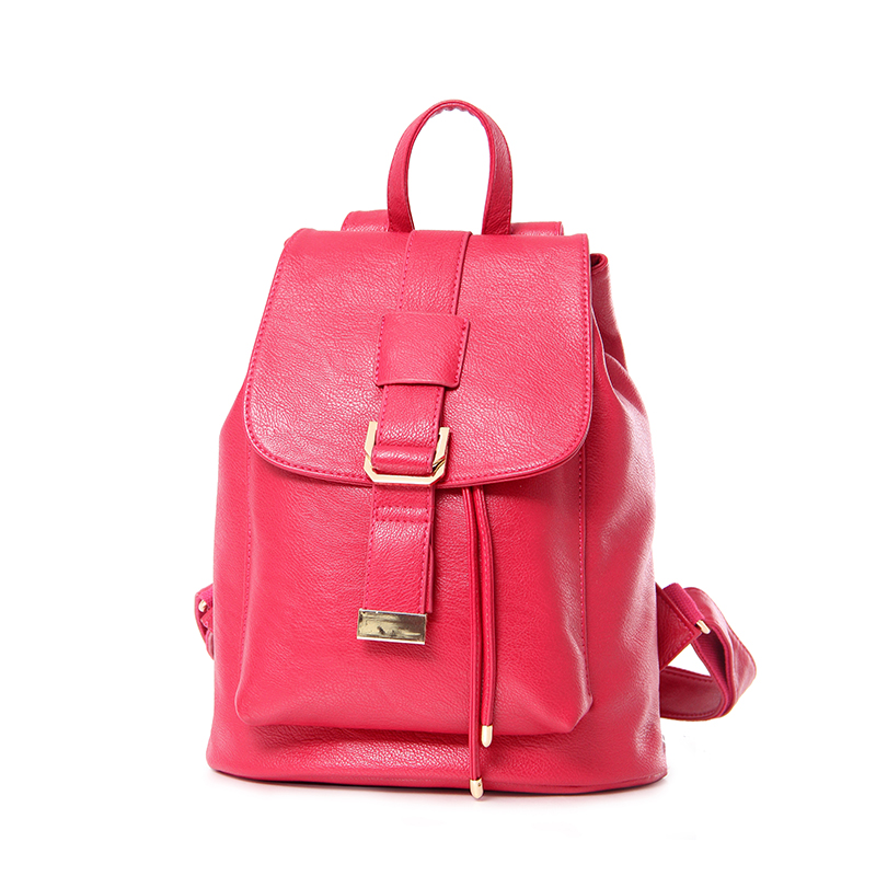 ФОТО 2017 Hot Sale PU Leather Backpack Campus Style Women Backpacks 5Colors Ladies Girl School Shouldes Bags Lovely Bags STA811 Red