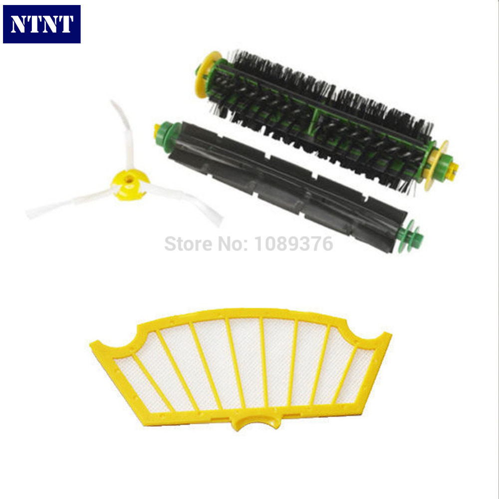 NTNT Free Post  Side Brush Filter Mini Kit 3 Armed for iRobot Roomba 500 Series New лакалют актив паста зубная 75мл зубная нить