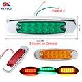 KEYECU пара 12LED герметичный боковой габаритный зазор задний стоп трейлер свет в форме рыбы Грузовик Трейлер 12/24 в 3 вида цветов на выбор