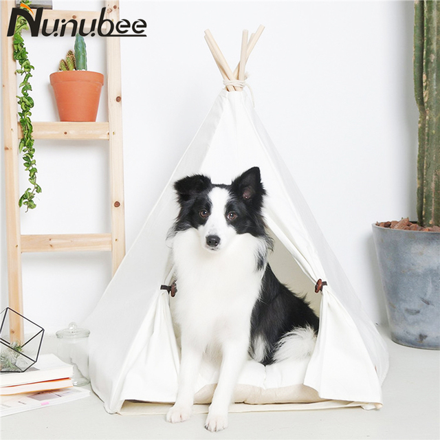 Nunubee White Tent Dog Bed Pet Cat House Outdoor Indoor Portable Removable Tents for Small Large & Nunubee White Tent Dog Bed Pet Cat House Outdoor Indoor Portable ...