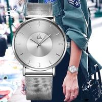 Shengke Black Fashion Women Watches Top Brand Luxury Ultra Thin Watch Ladies Quartz Wristwatch Female Clock