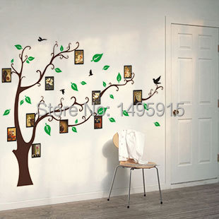famille arbre photo sticker mural amovible wall sticker autocollant art mural d coratif sticker. Black Bedroom Furniture Sets. Home Design Ideas