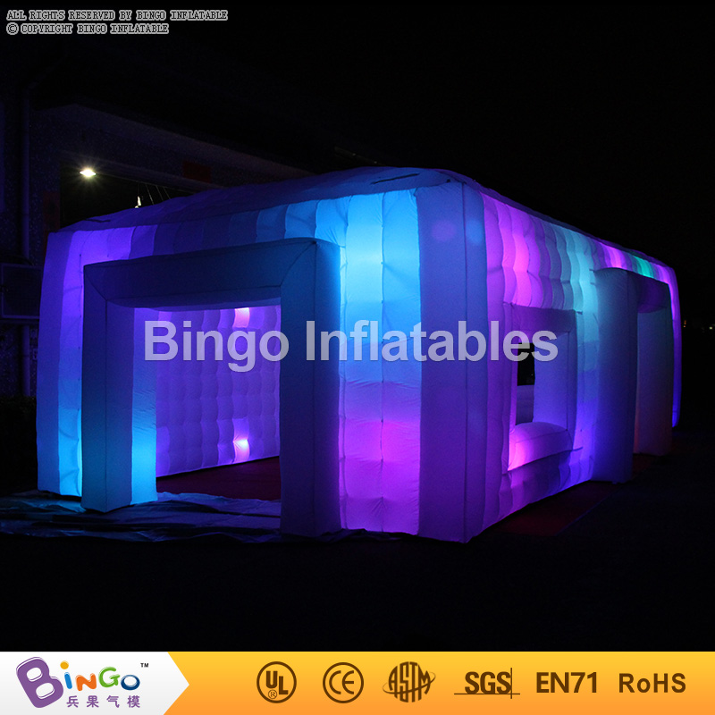 Giant Tent Type Inflatable Party Tent 9.5*5*3.7M Inflatable Cube Bar Event Tent Childrens Play Tents Home for sale with Lighting inflatable cartoon customized advertising giant christmas inflatable santa claus for christmas outdoor decoration