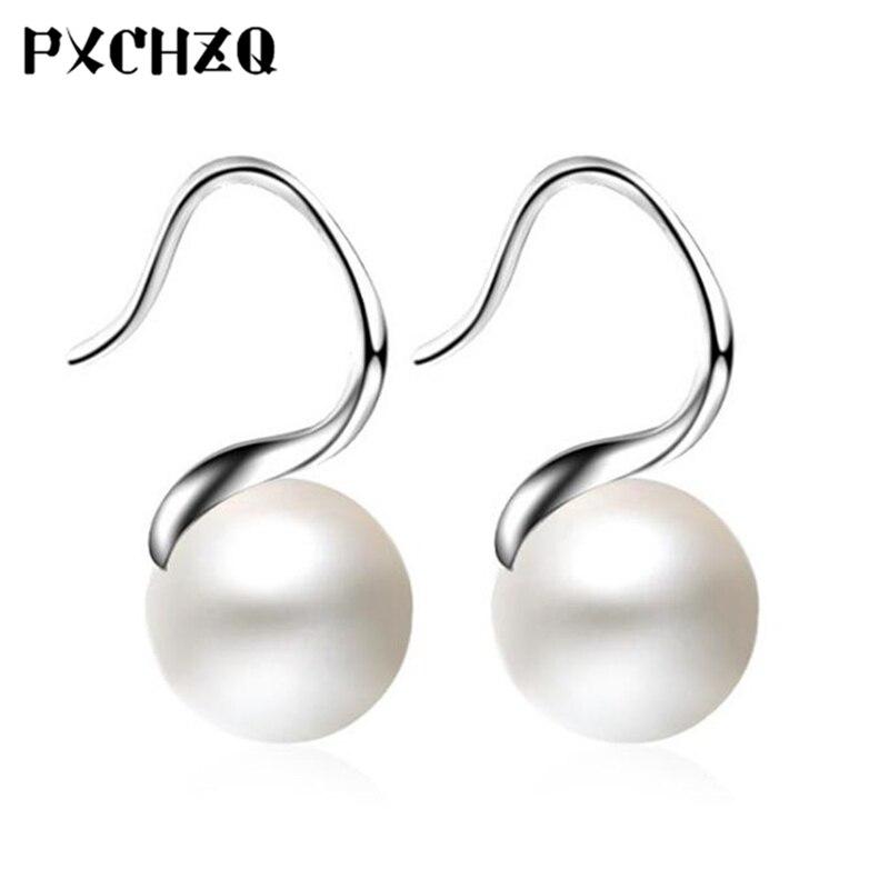 Classic temperament female flower wreath ear hook fashion trend imitation pearl earrings Popular jewelery gift