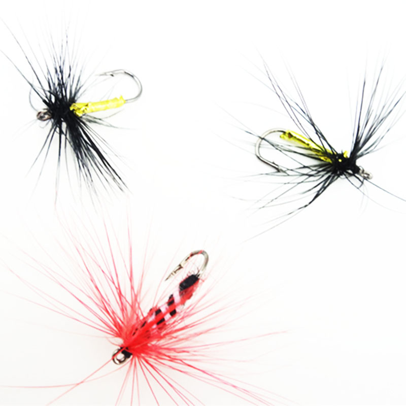 Wholesale Fly Fishing Flies: Shared With Fish 12PCS 8# 10# 12# Colorful Mosquito Fly