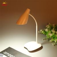 Adjustable USB Rechargeable Touch Sensor LED Reading Light Desk Table Lamp Children Reading Night Light Home