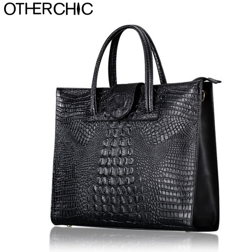 OTHERCHIC Crocodile Women Leather Handbags Fashion Women Bag Ladies Shoulder Bag