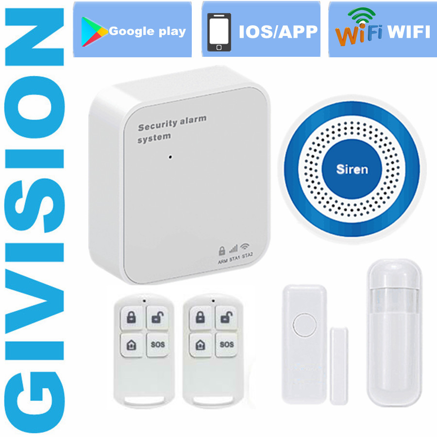 Wireless WIFI GSM Alarm System Home security 433MHz GSM IOS Alarm wireless window door alarm sensor/siren/PIR Detector SIM wireless smoke fire detector for wireless for touch keypad panel wifi gsm home security burglar voice alarm system