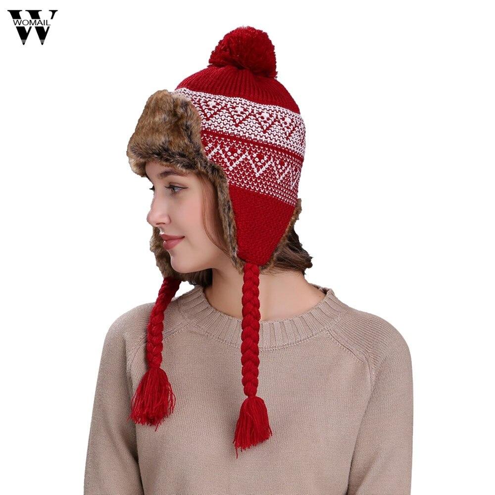 Womail Women Hats Popular Warm Women Winter Hat With Ear -8815