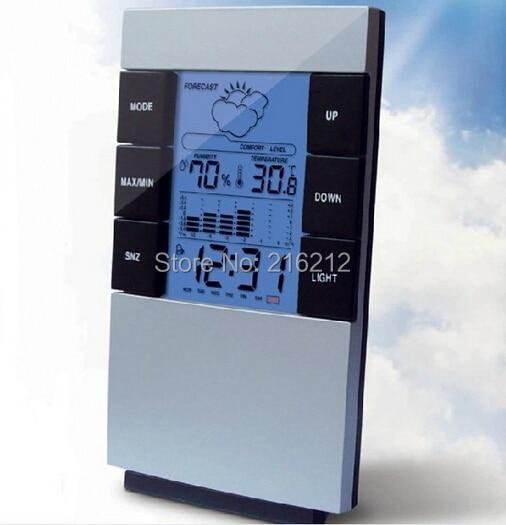 Mode Heißer LCD haushalts elektronische digitale temperatur und feuchtigkeit meter Mit eine hintergrundbeleuchtung alarm thermometer hygrometer