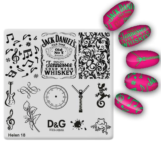 20pcs/set Nail Stamping Plates 3D DIY Beauty Pattern Nail Art Stamp ...