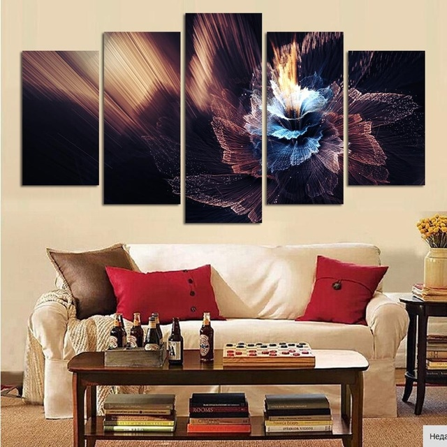 5 Pcs Abstract Home Goods Wall Art Canvas Painting Pictures Bedroom ...