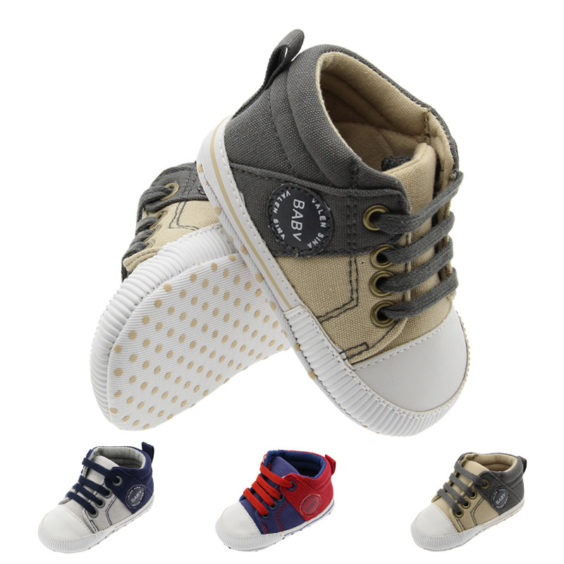 2018 Cute Baby Boys Fashion Sneakers Soft Sole Indoor First Walkers Baby Shoes
