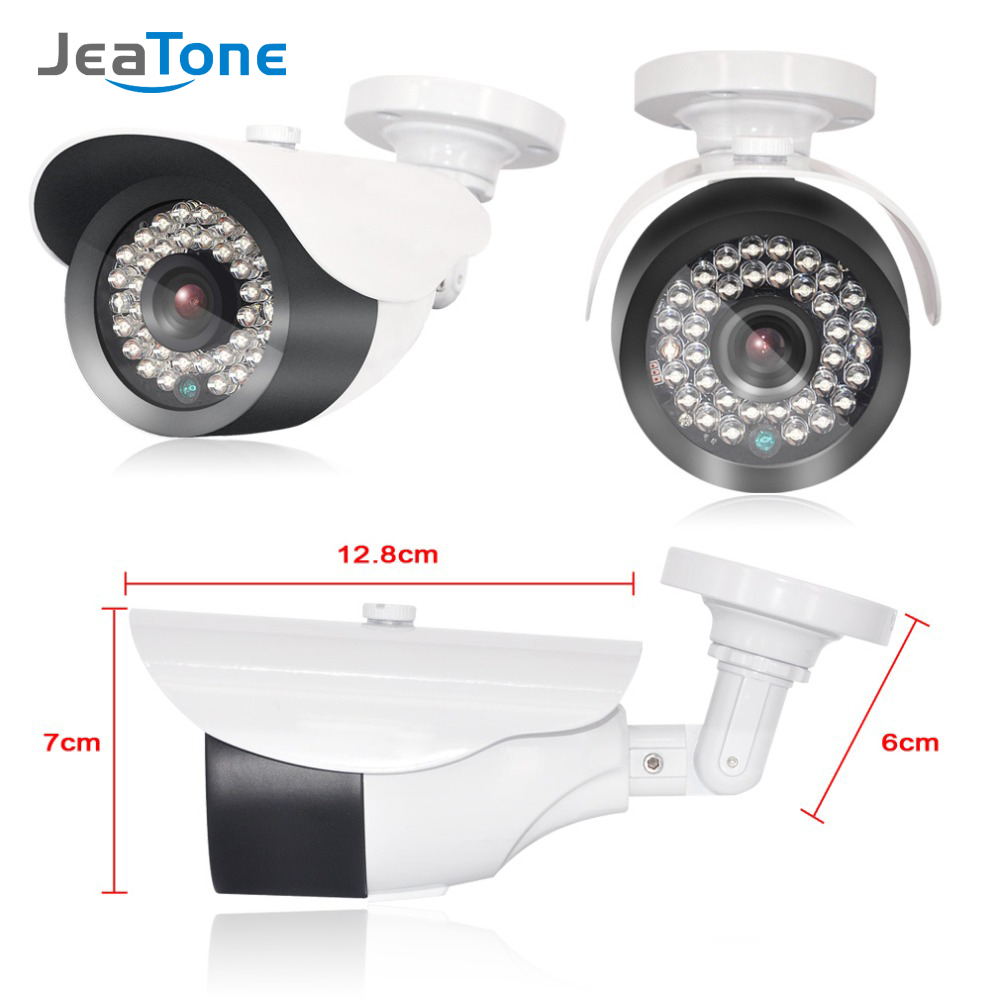 JeaTone  1080P IP Camera Surveillance Camera With 3.6mm Lens Waterproof 2.4 Mega Pixel