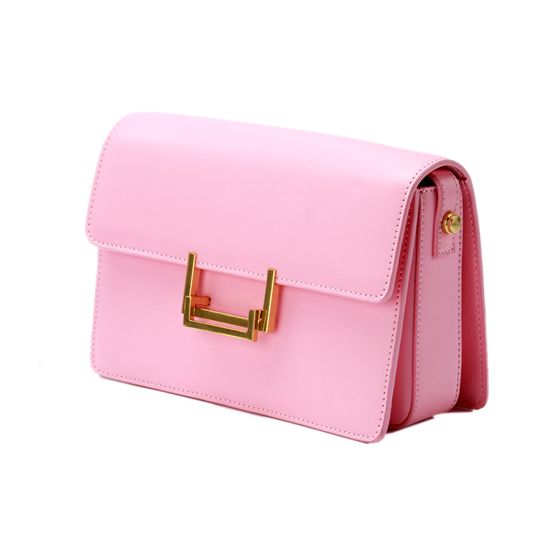Fashion Women's Genuine Leather Shoulder Bags Women Pink Messenger Bag Designer Brand Small Crossbody Bags women shoulder bags leather handbags shell crossbody bag brand design small single messenger bolsa tote sweet fashion style