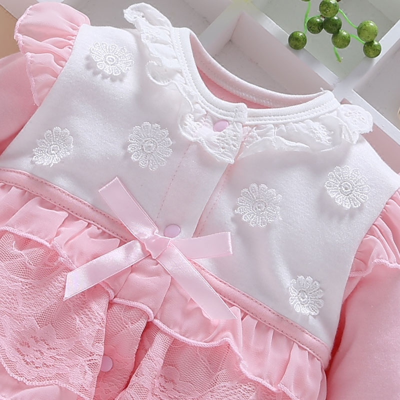 8d0b56e2611 New Born Baby Girl Rompers Lace Outfit Clothes Set Age 0 18M Clothes Baby  Girl Winter Clothes Baby Jumpsuit-in Rompers from Mother   Kids on  Aliexpress.com ...