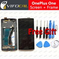For OnePlus One Screen With Frame High Quality LCD Display + Touch Screen Digitizer Replacement Accessories For One Plus One