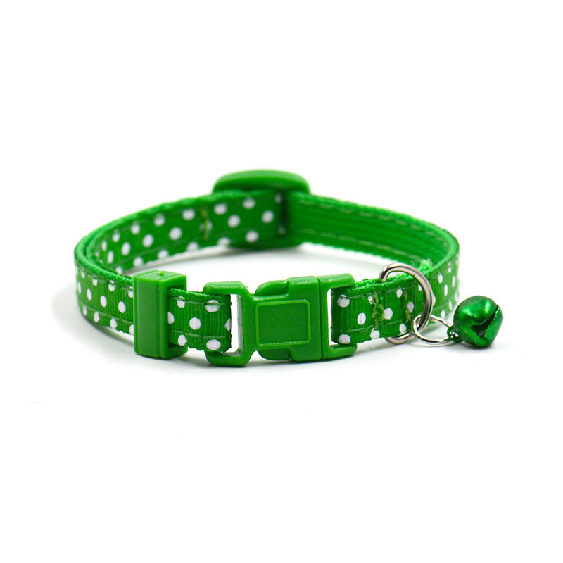 Adjustable Dot Printed Dog,Cat  Collars