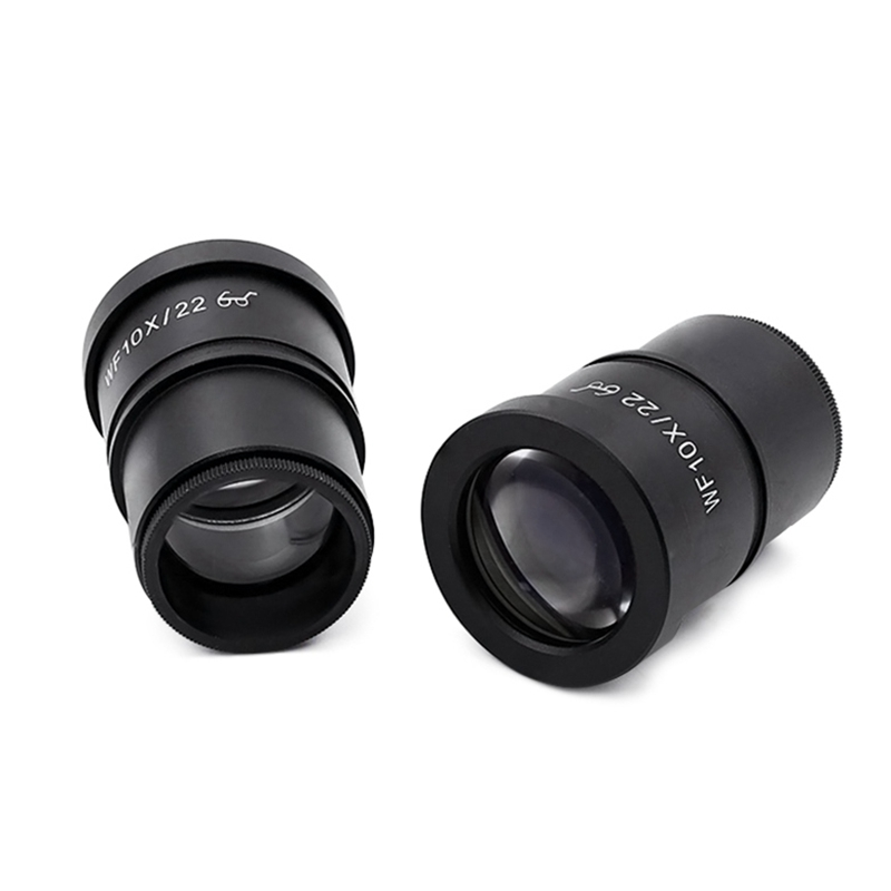 2PCS Wide Field WF10X/22 High Eye Point Microscope Eyepiece with Mounting Size 30mm for Stereo Microscope  цены
